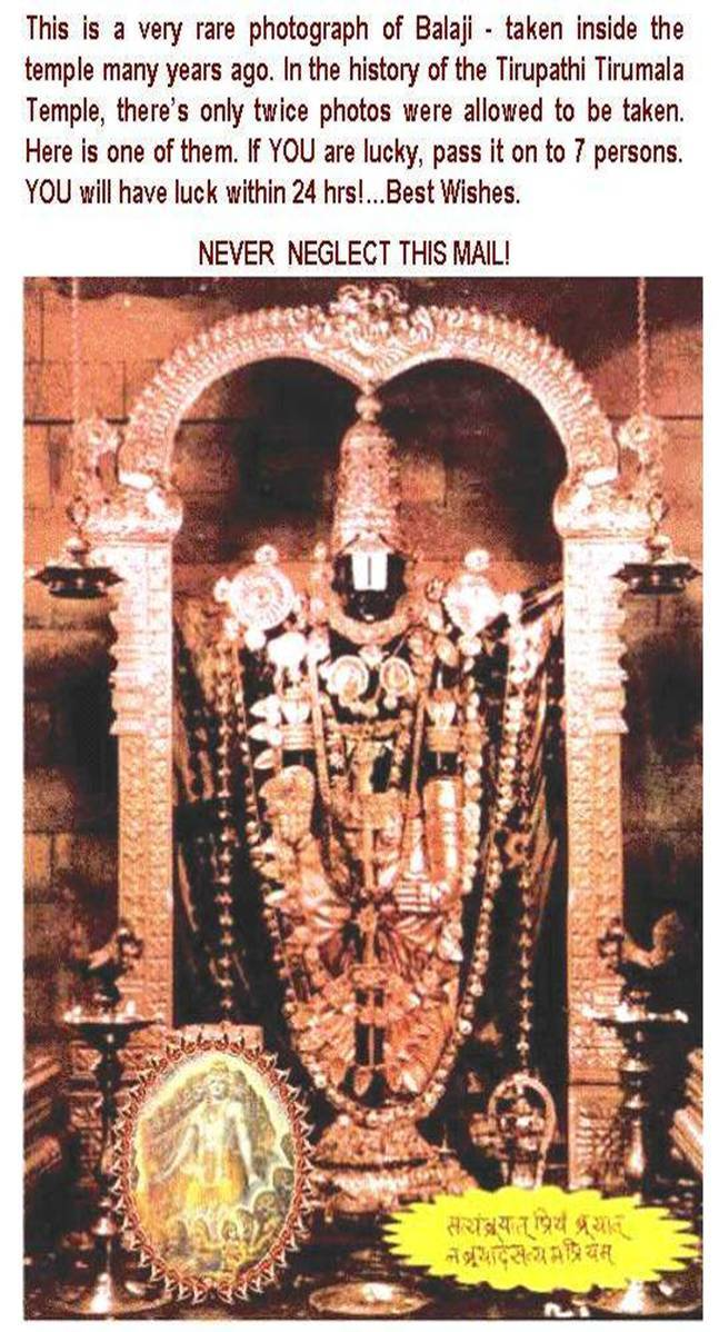 Lord Balaji - Original Picture